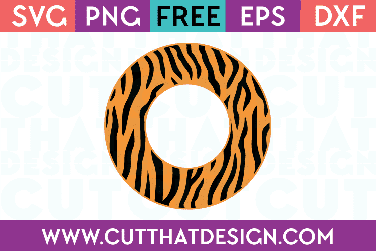 Tiger Print Circle Frame SVG