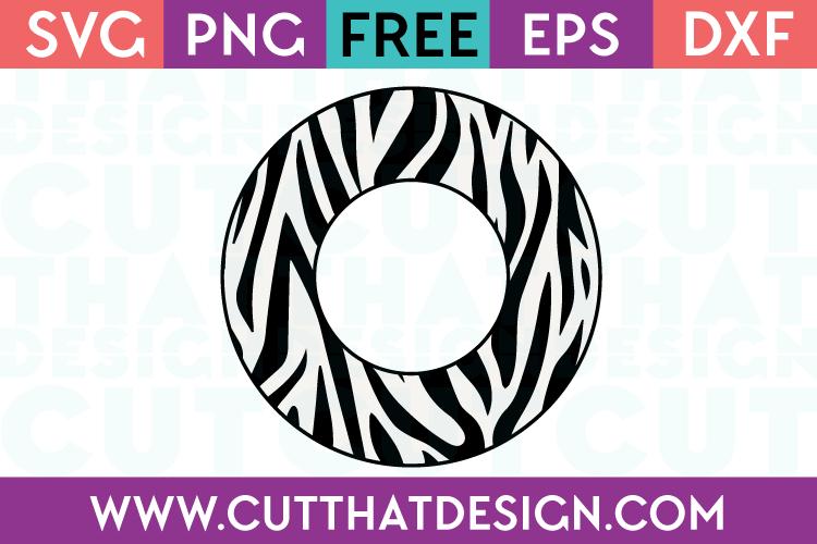 Zebra Print Circle Frame SVG