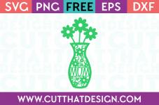 Flower Vase SVG Cut That Design