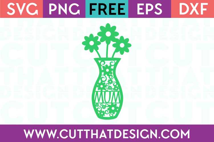 Flower Vase SVG Cut That Design