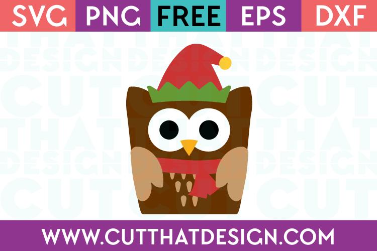 Free SVG Christmas Owl