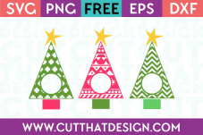 Free SVG Christmas Tree Monogram Designs Set