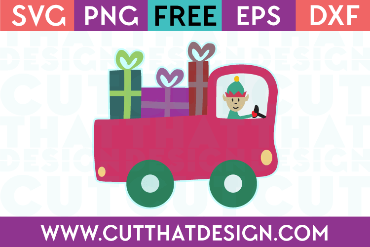 Free Christmas Truck SVG