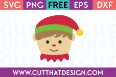 Christmas Elf Head SVG Boy