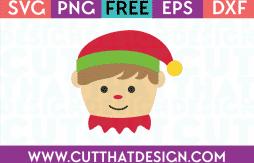Christmas Elf Head SVG Boy