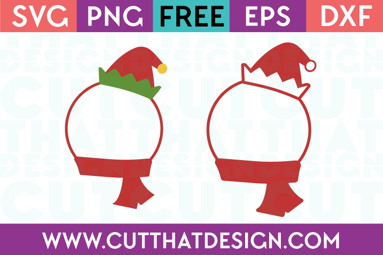 Elf Hat and Scarf SVG