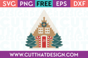 Gingerbread House SVG Free