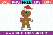 Free SVG Gingerbread Man
