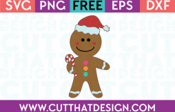 Free SVG Gingerbread Man
