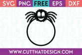 Furry Spider SVG Free