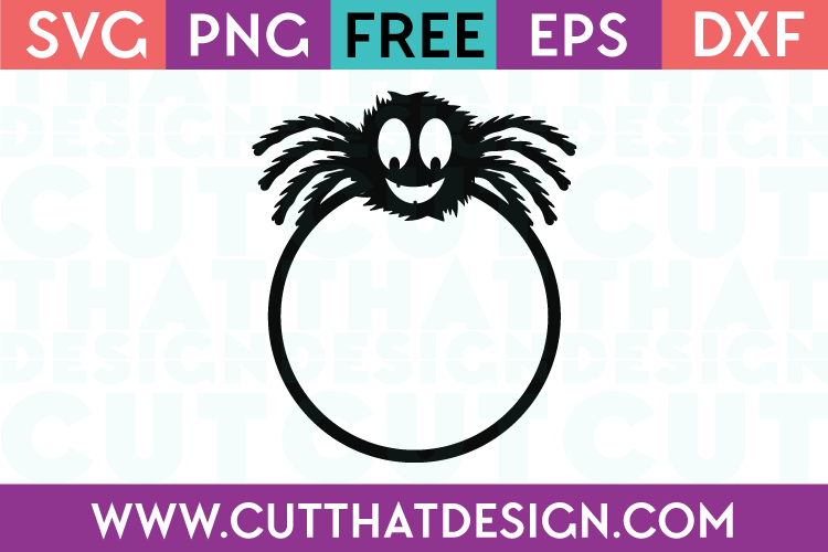 Furry Spider SVG Free