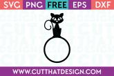 Halloween Cat Free SVG Cutting File