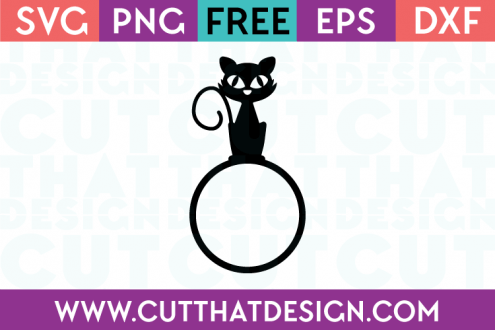 Halloween Cat Free SVG Cutting File
