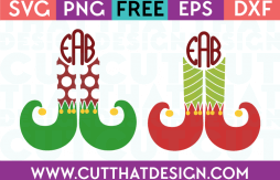 Elf Legs Patterned SVG