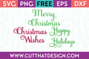Christmas Phrases SVG Free