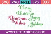 Christmas Phrases SVG Free