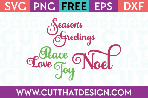Christmas Sentiments SVG Files