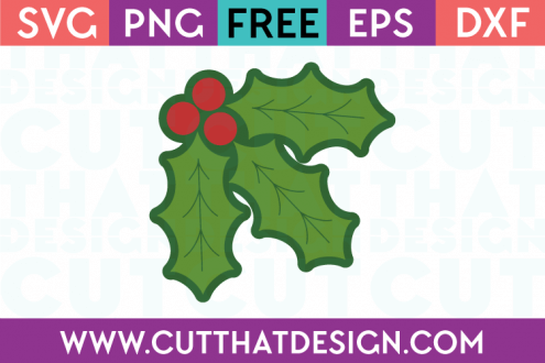 Christmas Holly SVG Free Cutting File