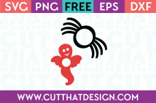 Halloween Ghost and Spider SVG Cut