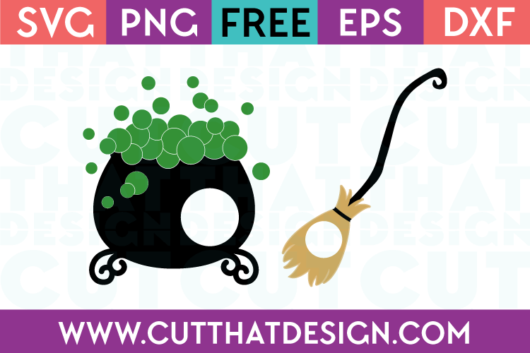 Halloween Witches Cauldron SVG Cutting File
