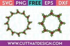 Holly Wreath SVG Cutting File