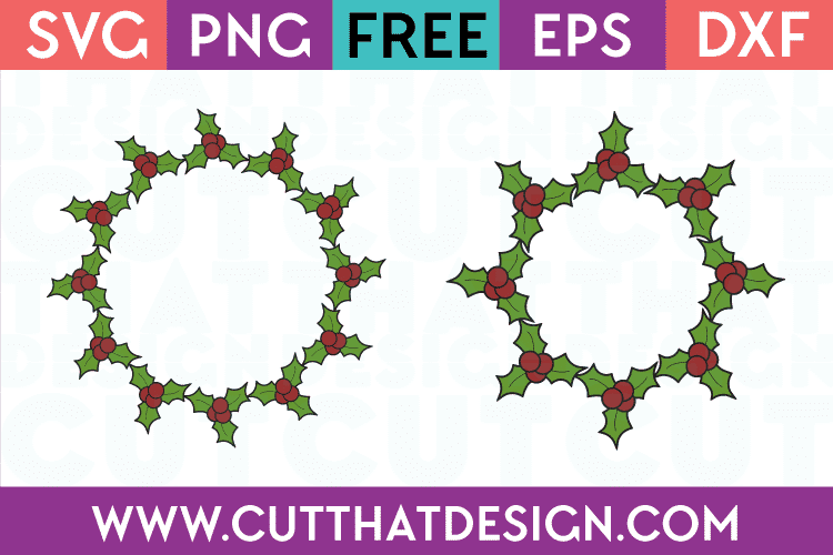 Holly Wreath SVG Cutting File