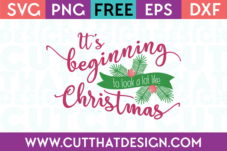 It's beginning to look a lot like christmas svg
