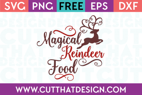 Magical Reindeer Food SVG
