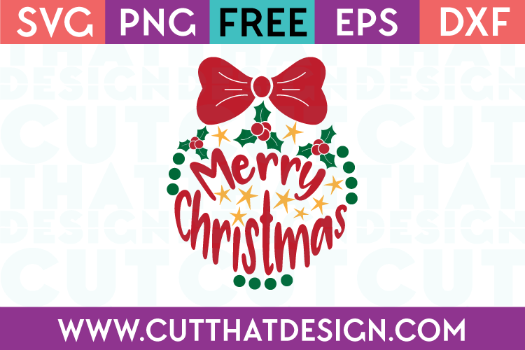 Merry Christmas Ornament SVG
