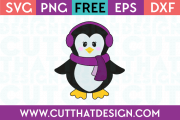 Winter Penguin SVG
