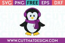 Winter Penguin SVG