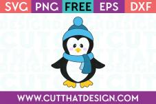 SVG Cutting File Penguin
