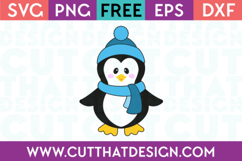SVG Cutting File Penguin
