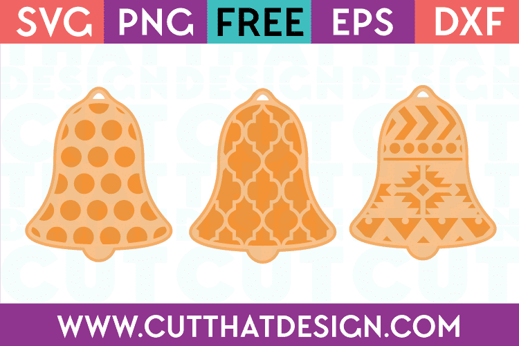 Christmas Bell Design Set 1 – Polka Dot, Moroccan and Aztec Patterns