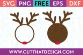 SVG File Reindeer Circle Frame