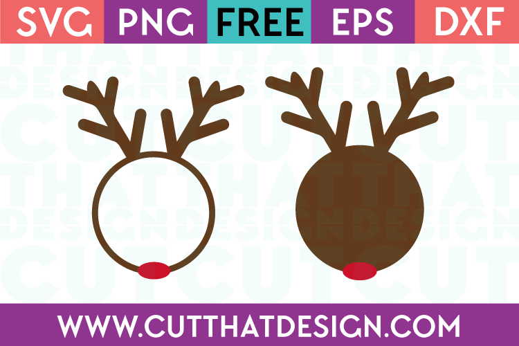 SVG File Reindeer Circle Frame