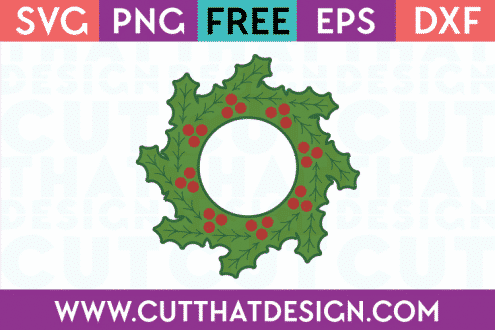 Christmas Holly SVG File Free
