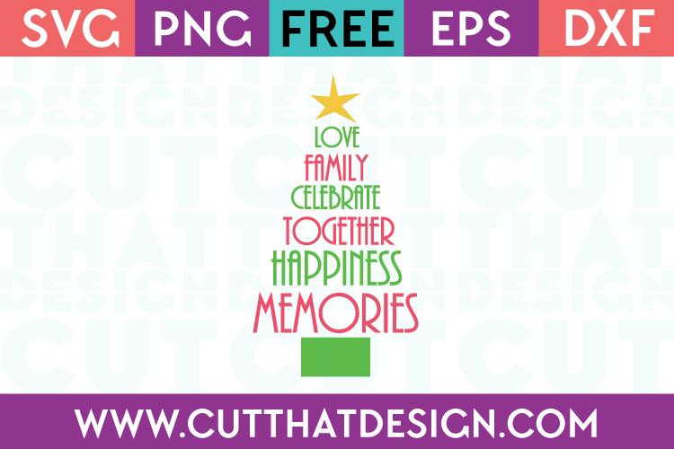 Christmas Tree Free Cutting SVG File