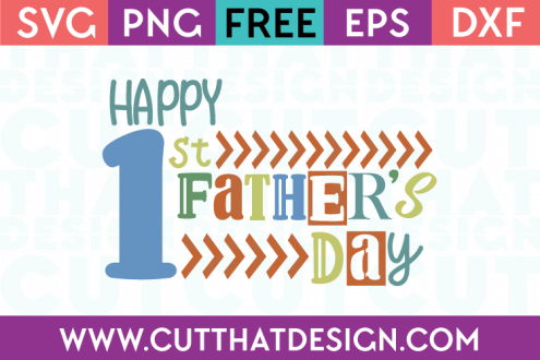 1st Father's Day SVG