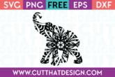 Free Elephant Cut File