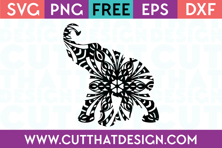 Free Elephant Cut File