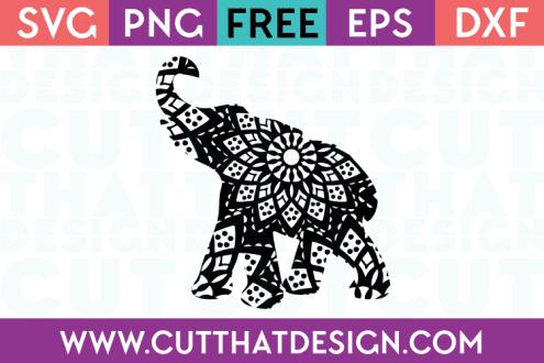 Mandala Elephant SVG