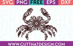 Mandala Crab SVG Cutting File