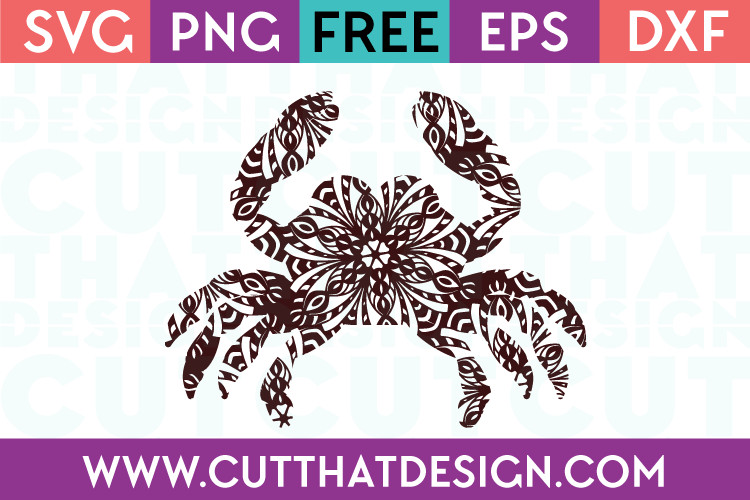 Mandala Crab SVG Cutting File