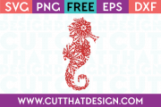 Seahorse SVG Cutting File