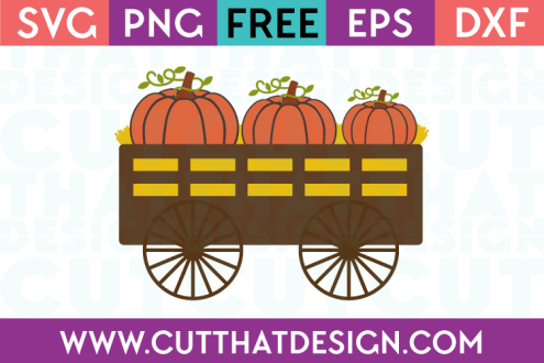 Free SVG Files Pumpkin Wagon