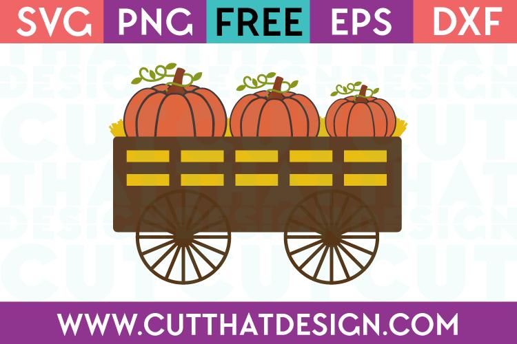 Free SVG Files Pumpkin Wagon
