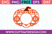 Free Pumpkin SVG Aztec Pattern