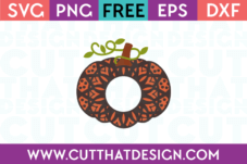 Free Mandala Pumpkin SVG Cutting File