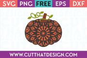 Mandala Pumpkin Free SVG File